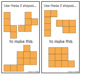 Pentomino Puzzles- 2 Piece Puzzles