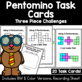 Pentomino Task Cards | 3 Piece Challenges