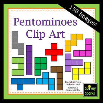 Pentomino Clip Art {For Commercial Use}