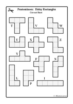 photograph regarding Pentominoes Printable called Pentomino Puzzle Worksheets Education Elements TpT