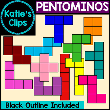 Pentominos {Katie's Clips Clipart}