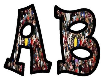 People Alphabet Bulletin Board Letters