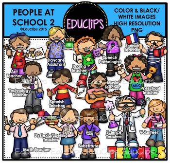 People At School 2 Clip Art Bundle {Educlips Clipart}