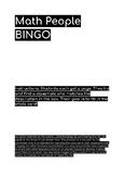 People BINGO- Math Style!