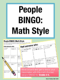 First Day of School Activity - People BINGO: Math Style (Grades 2-5)