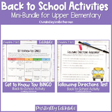 People BINGO and Following Directions Test Back to School Bundle for 3rd-5th