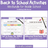 Following Directions Test Back to School Activity for Middle