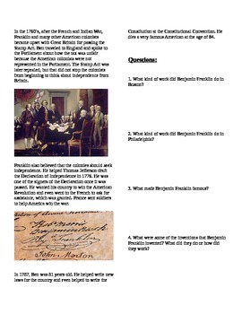 People: Benjamin Franklin
