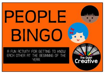 People Bingo Class Activity