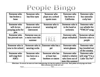People Bingo Icebreaker