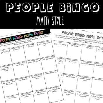 People Bingo: Math Style