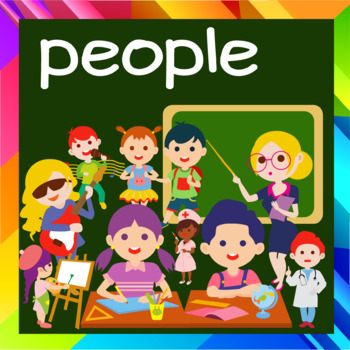 Students and Kids' Activities at school (Clip Art)