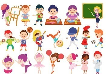 Students And Kids Activities At School Clip Art By Haley S Clipart