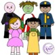People Clip Art- Girls, Boys, Occupations, Zombies, Family