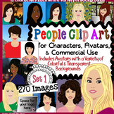 People Clip Art Set 1 for Characters, Avatars, and Projects - Commercial Use OK