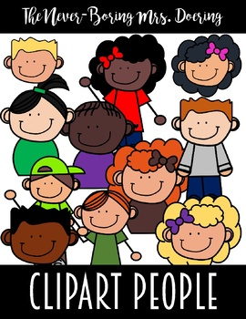 People Clipart--Kids (90+ Color and BW Images)