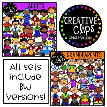 People Clipart Mega Bundle ($48.00 Value) {Creative Clips Clipart}