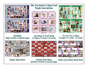 People Descriptions 6 Board Game Bundle