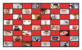 People Descriptions Legal Size Photo Checkerboard Game