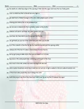 People Descriptions Scrambled Sentences Worksheet