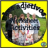 Family and Friends Adjective Worksheet - Descripciones