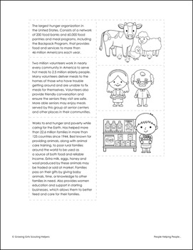 """People Helping People... - Girl Scout Brownies - """"Philanthropist"""" (Steps 2 & 3)"""