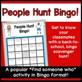 People Hunt Bingo: A back to school, get to know you activity