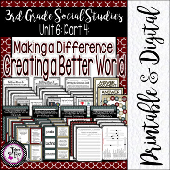 People Infuencing Communities: TRS Third Grade Social Studies Unit 8
