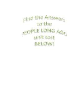 People Long Ago Unit Summative Assessment