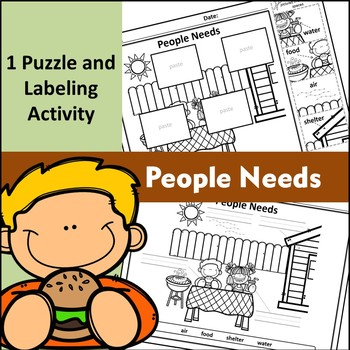 People Needs - Puzzle Parts & Labeling Activity