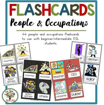People & Occupations {44 Flashcards & Games} ESL Adults & Grades 4-6