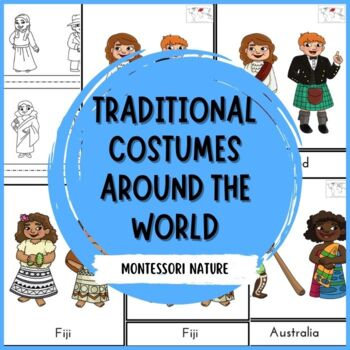 Traditional Costumes Around The World 3-Part Montessori Cards