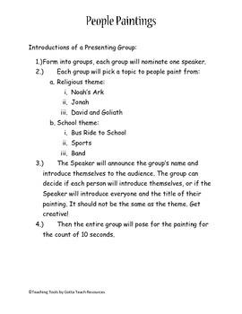 People Paintings Drama Group Play- Christian Theme