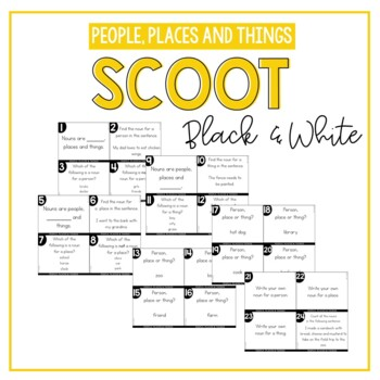 People, Places and Things Nouns Scoot