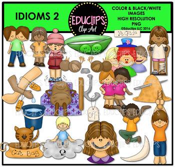 Idioms 2 Clip Art Bundle {Educlips Clipart}
