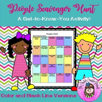 People Scavenger Hunt - Get to Know You - Community Builder Guidance Orientation