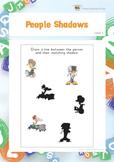 People Shadows (Visual Perception Worksheets)