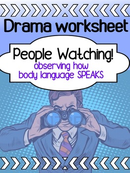 Drama - Mime - People Watching Worksheet