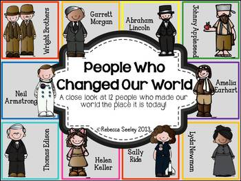 People Who Changed The World: Activities for little learners
