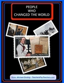 Character Education, People Who Changed the World Posters & Student Activities