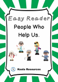 People Who Help Us Easy Reader  Community Helpers Emergent Reader