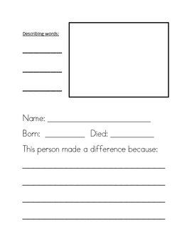 People Who Made A Difference Workbook