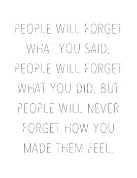 People Will Forget Poster 8.5x11