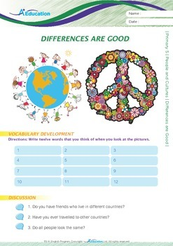 People and Cultures - Differences are Good - Grade 5