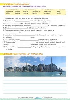 People and Cultures - Hong Kong Is a Very Special Place - Grade 5