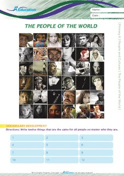 People and Cultures - The People of the World - Grade 6