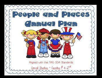 People and Places Social Studies Annual Plans for 1st & 2nd. Multigrade