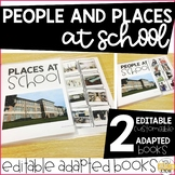 People and Places at School Editable Adapted Books