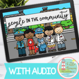 People and Places in the Community Boom Cards™ WITH AUDIO