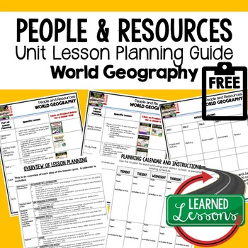 People and Resources Lesson Plan Guide for World Geography